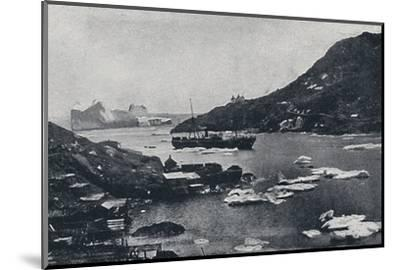 'Icebergs in St. John's Harbour', 1924-Unknown-Mounted Photographic Print