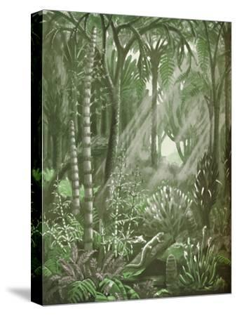'What the Mighty Coal Forests Were Like', 1935-Unknown-Stretched Canvas Print