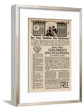 'Arthur Mee's Children's Encyclopedia', 1935-Unknown-Framed Giclee Print