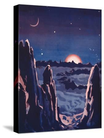 'What Sunrise on the Moon Must Be Like', 1935-Unknown-Stretched Canvas Print