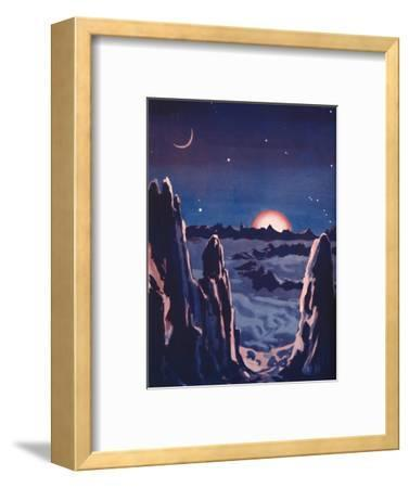 'What Sunrise on the Moon Must Be Like', 1935-Unknown-Framed Giclee Print