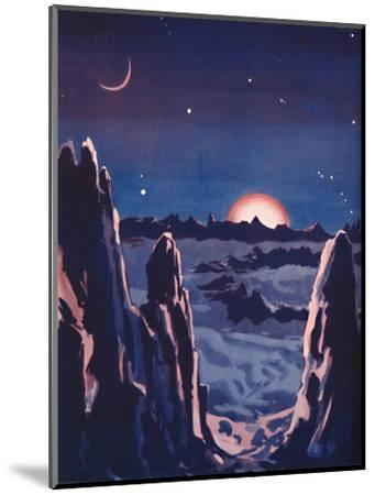 'What Sunrise on the Moon Must Be Like', 1935-Unknown-Mounted Giclee Print