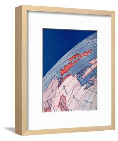 'The British Isles and Northern Europe at 6am on mid-summer day', 1935-Unknown-Framed Giclee Print