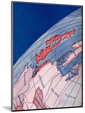 'The British Isles and Northern Europe at 6am on mid-summer day', 1935-Unknown-Mounted Giclee Print