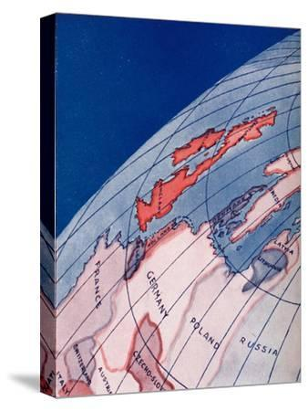 'The British Isles and Northern Europe at 6am on mid-summer day', 1935-Unknown-Stretched Canvas Print