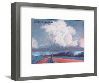 'Cumulo-Nimbus - A Dozen of the Principal Cloud Forms In The Sky', 1935-Unknown-Framed Giclee Print