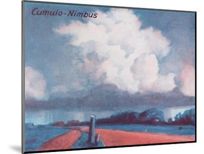 'Cumulo-Nimbus - A Dozen of the Principal Cloud Forms In The Sky', 1935-Unknown-Mounted Giclee Print