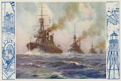 'British Warships of To-Day', 1924-Unknown-Framed Giclee Print