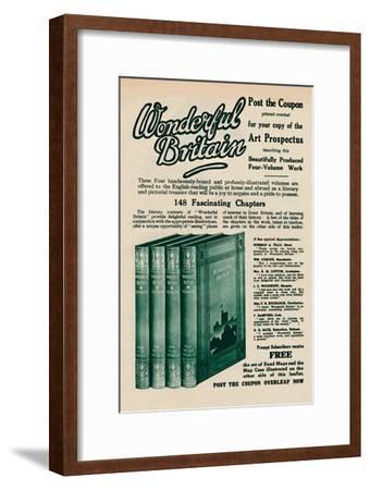 'Wonderful Britain book advertisement', 1935-Unknown-Framed Giclee Print