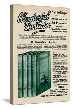 'Wonderful Britain book advertisement', 1935-Unknown-Stretched Canvas Print