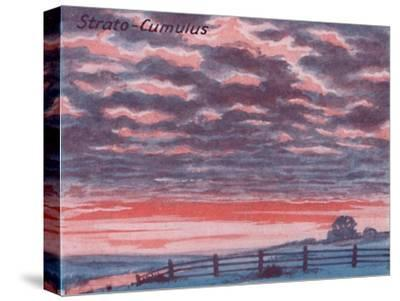 'Strato-Cumulus - A Dozen of the Principal Cloud Forms In The Sky', 1935-Unknown-Stretched Canvas Print