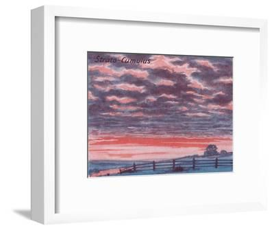 'Strato-Cumulus - A Dozen of the Principal Cloud Forms In The Sky', 1935-Unknown-Framed Giclee Print