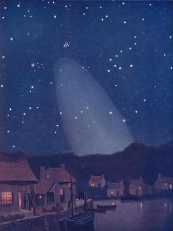 'The Mysterious Cone of the Light in the Sky', 1935-Unknown-Framed Giclee Print
