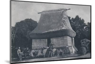 'Fijian House', 1924-Unknown-Mounted Photographic Print