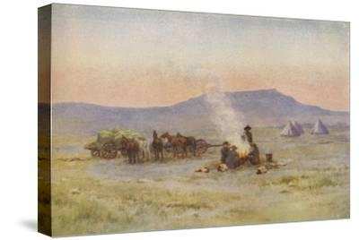 'Boer Camp on the Veldt', 1924-Unknown-Stretched Canvas Print