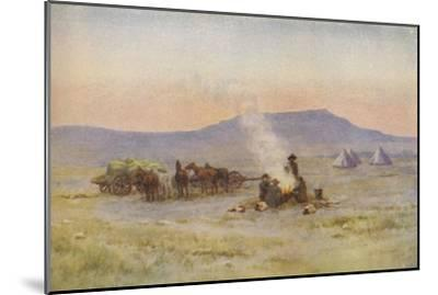 'Boer Camp on the Veldt', 1924-Unknown-Mounted Giclee Print