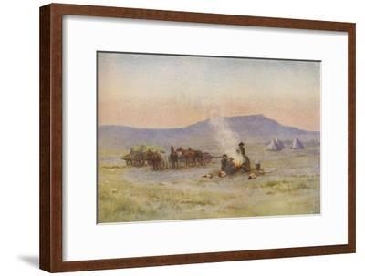'Boer Camp on the Veldt', 1924-Unknown-Framed Giclee Print