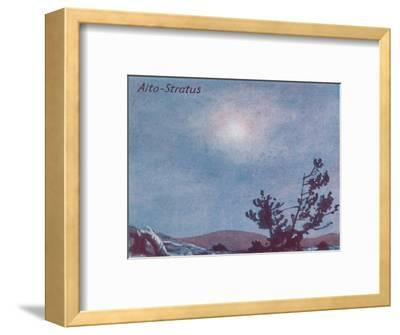 'Alto-Stratus - A Dozen of the Principal Cloud Forms In The Sky', 1935-Unknown-Framed Giclee Print