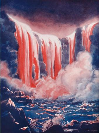'In The Land of Everlasting Fire', 1935-Unknown-Framed Giclee Print