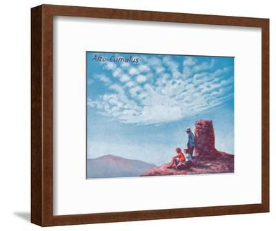 'Alto-Cumulus - A Dozen of the Principal Cloud Forms In The Sky', 1935-Unknown-Framed Giclee Print