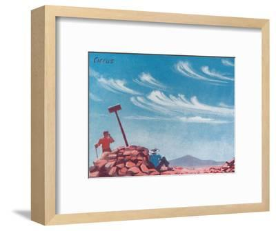 'Cirrus - A Dozen of the Principal Cloud Forms In The Sky', 1935-Unknown-Framed Giclee Print