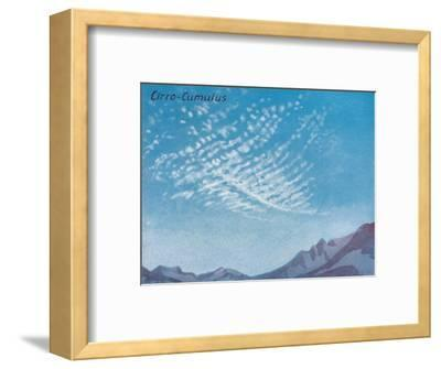 'Cirro-Cumulus - A Dozen of the Principal Cloud Forms In The Sky', 1935-Unknown-Framed Giclee Print