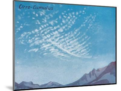 'Cirro-Cumulus - A Dozen of the Principal Cloud Forms In The Sky', 1935-Unknown-Mounted Giclee Print