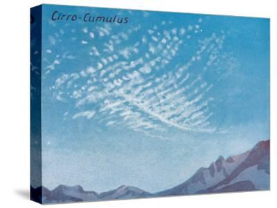 'Cirro-Cumulus - A Dozen of the Principal Cloud Forms In The Sky', 1935-Unknown-Stretched Canvas Print
