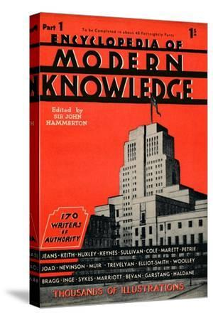 'Encyclopedia of Modern Knowledge Part 1 advertisement', 1935-Unknown-Stretched Canvas Print