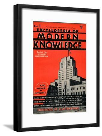 'Encyclopedia of Modern Knowledge Part 1 advertisement', 1935-Unknown-Framed Giclee Print