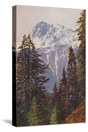 'Peak in the Himalayas', 1924-Unknown-Stretched Canvas Print