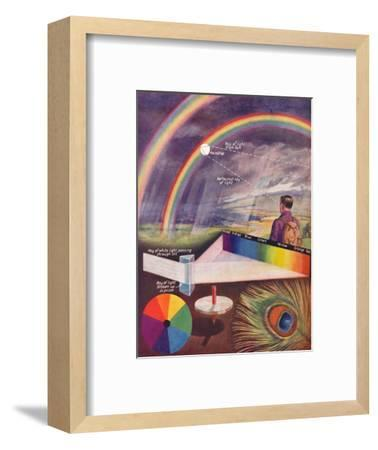 'The Many Colours That Make Up White Light', 1935-Unknown-Framed Giclee Print