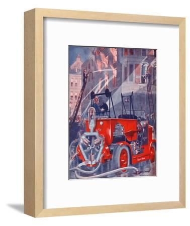 'How The Fire Engine Puts Out The Fire', 1935-Unknown-Framed Giclee Print