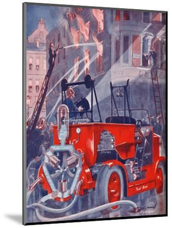 'How The Fire Engine Puts Out The Fire', 1935-Unknown-Mounted Giclee Print