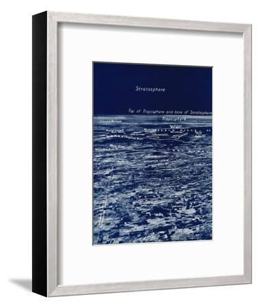 'The Rotundity of the Earth From The Stratosphere', 1935-Unknown-Framed Photographic Print