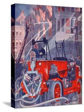 'How The Fire Engine Puts Out The Fire', 1935-Unknown-Stretched Canvas Print