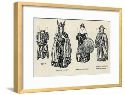 'The Gallery of British Costume: The Dress of Danes & Later Anglo-Saxons', c1934-Unknown-Framed Giclee Print