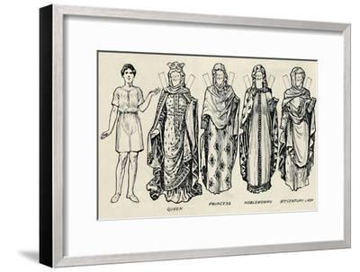 'The Gallery of British Costume: How The People Dressed in Anglo-Saxon Times', c1934-Unknown-Framed Giclee Print