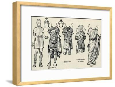 'The Gallery of Historic Costume: What The Britons and Romans Used To Wear', c1934-Unknown-Framed Giclee Print