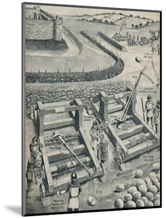 'Bombarding a Fort in Saxon Times', c1934-Unknown-Mounted Giclee Print