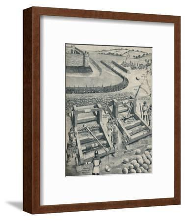 'Bombarding a Fort in Saxon Times', c1934-Unknown-Framed Giclee Print