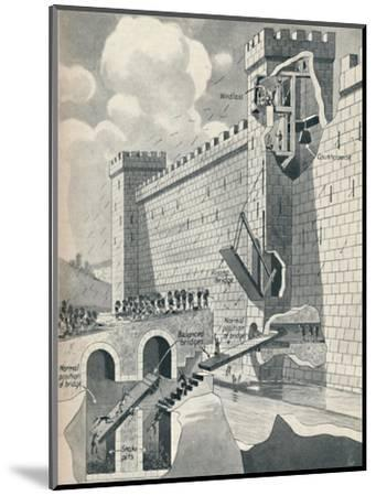 'Some Marvellous Methods by which the Medieval Castles Were Defended', c1934-Unknown-Mounted Giclee Print