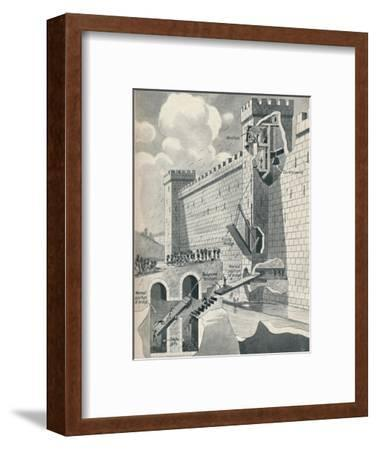 'Some Marvellous Methods by which the Medieval Castles Were Defended', c1934-Unknown-Framed Giclee Print