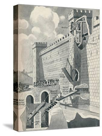 'Some Marvellous Methods by which the Medieval Castles Were Defended', c1934-Unknown-Stretched Canvas Print