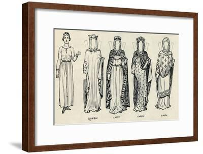 'The Great Gallery of British Costume: Varied Dresses Worn in Norman Times', c1934-Unknown-Framed Giclee Print