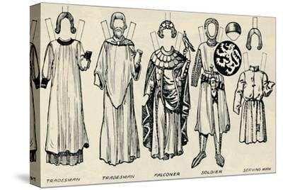 'The Gallery of British Costume: What Men and Women Wore In Henry III's Time', c1934-Unknown-Stretched Canvas Print