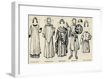 'The Gallery of British Costume: What Men and Women Wore In Henry III's Time', c1934-Unknown-Framed Giclee Print