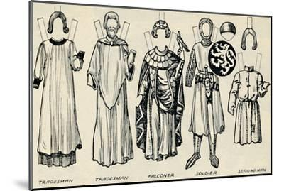 'The Gallery of British Costume: What Men and Women Wore In Henry III's Time', c1934-Unknown-Mounted Giclee Print