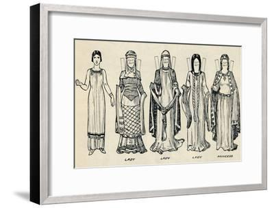 'The Gallery of British Costume: The Dress People Wore in Norman Times', c1934-Unknown-Framed Giclee Print