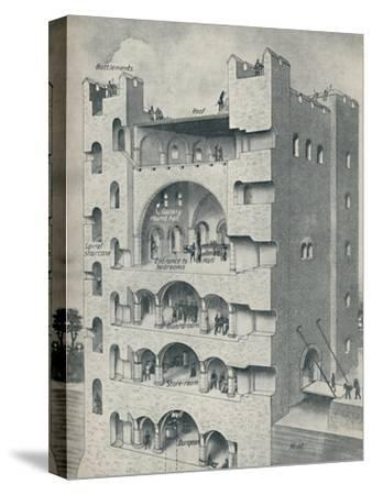 'Inside the Donjon of a Norman Castle', c1934-Unknown-Stretched Canvas Print